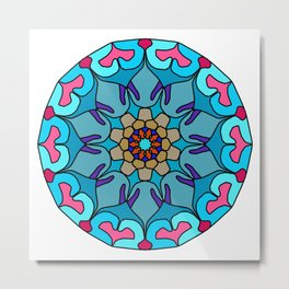 Meditation colorful mandala Metal Print
