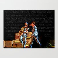 u2 Canvas Prints featuring U2 / Bono / Edge / Until The End Of The World by JR van Kampen