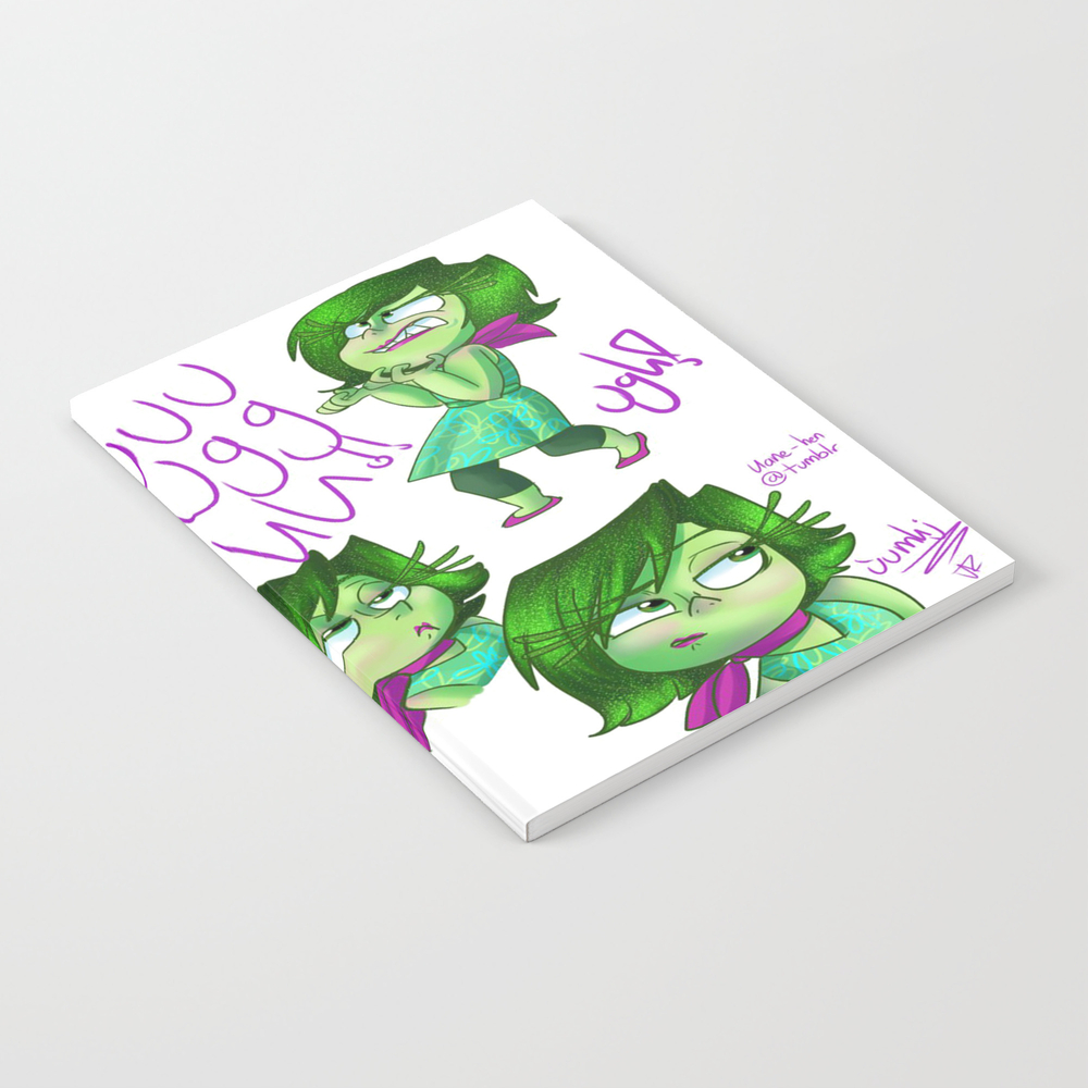 Inside Out Disgust Notebook by Slowdeath NBK7597424