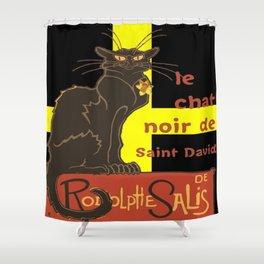 Le Chat Noir De Saint David De Rodolphe Salis Shower Curtain