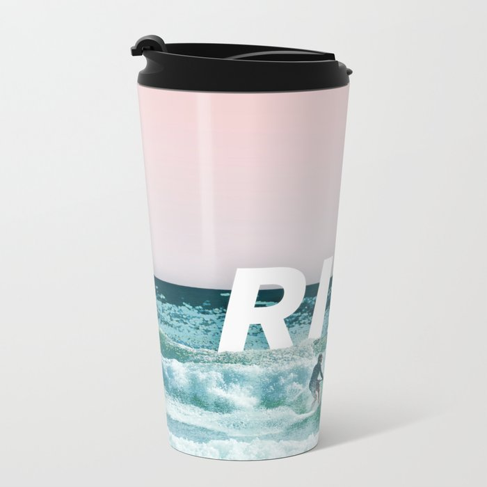Ride The Waves Metal Travel Mug