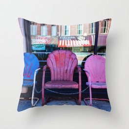 Chairs, from my street photography collection Throw Pillow