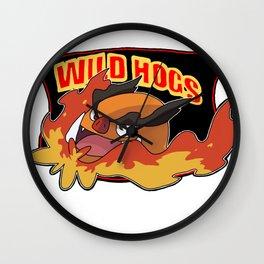 Wild Hogs Wall Clock