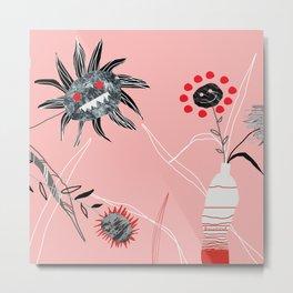 Horror flowers Metal Print