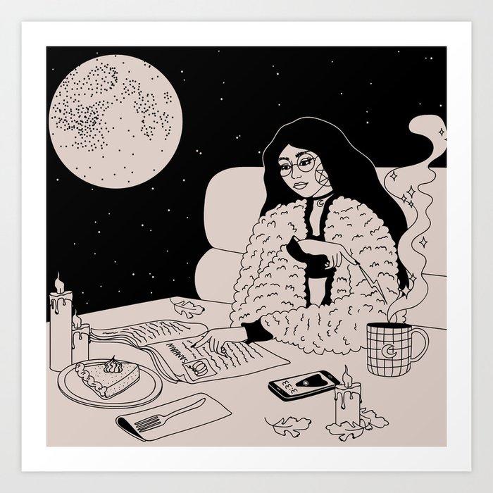 Lunar Cafe Art Print