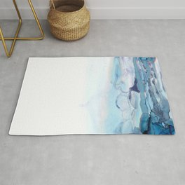 Indigo Abstract Painting | No.6 Rug