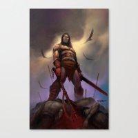 conan Canvas Prints featuring Conan the Barbarian by Eric Lofgren