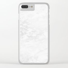 White Marble Silver Glitter Gray Clear iPhone Case