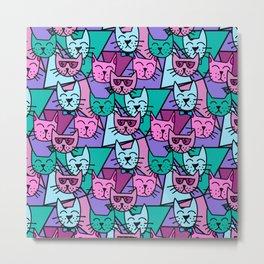 Pop Art Cats Metal Print