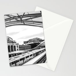 Union Station // Train Travel Downtown Denver Colorado Black and White City Photography Stationery Cards