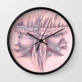 Soft and Gentle ( in Ribbon and Lace) Wall Clock