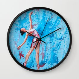 Wishful - Ballerina painting Wall Clock