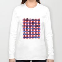 plaid Long Sleeve T-shirts featuring Let's Plaid by Yaz Raja Designs