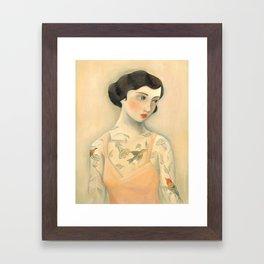 Tatooed Lady Rara Avis Framed Art Print