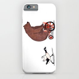 Bear and Goose iPhone Case