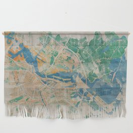 Amsterdam, the watercolor beauty Wall Hanging