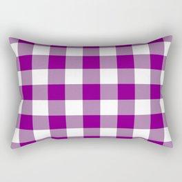 Gingham (Purple/White) Rectangular Pillow