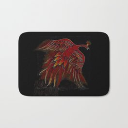 Creature of Fire (The Firebird) Bath Mat