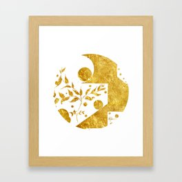 Gold plated bubbles Framed Art Print