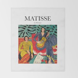 Matisse - La Musique Throw Blanket