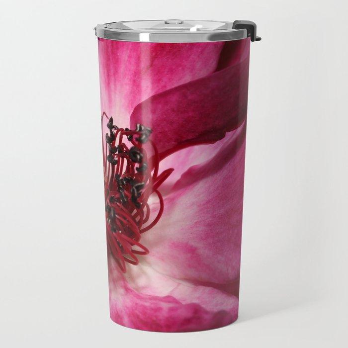 Burgandy Iceberg Rose Travel Mug