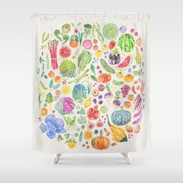 Seasonal Harvests - Neutral Shower Curtain