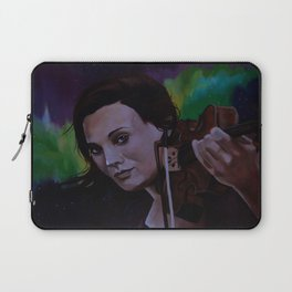 The violinist of the Northern Lights Laptop Sleeve