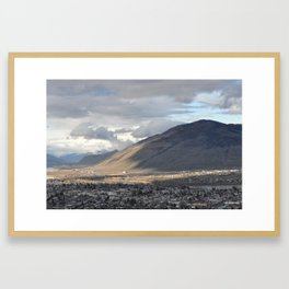 Kamloops mountain on a cloudy day 2 Framed Art Print