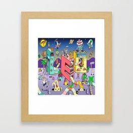 Leo Mural 8x8 Framed Art Print