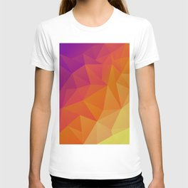 Low poly multi-color design T-shirt