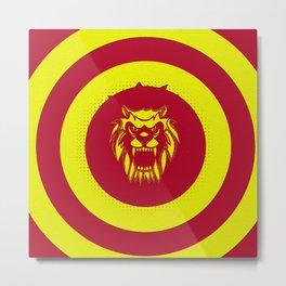 Angry lion Metal Print