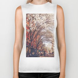 NYC Cherry Blossoms on the Lower East Side Biker Tank
