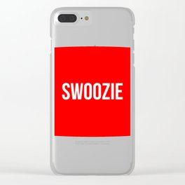 Swoozie Clear iPhone Case