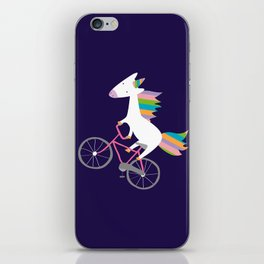 bike unicorn  iPhone Skin