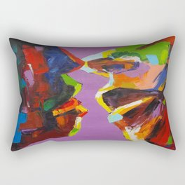 Four Faces Rectangular Pillow