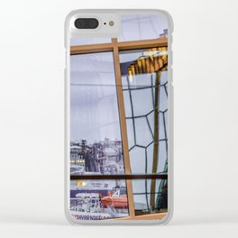 Glass geometry Clear iPhone Case