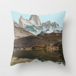 El Chalten, Argentina Travel Artwork Throw Pillow