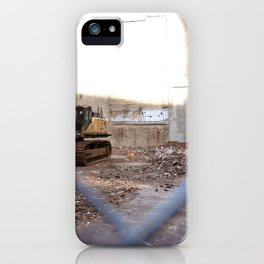 Concrete Jungle Undergoing Maintenance, New York City iPhone Case