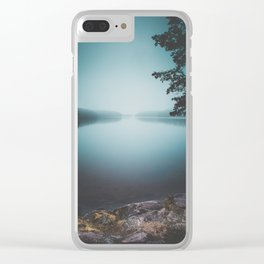 Lake insomnia Clear iPhone Case