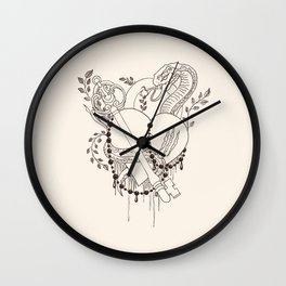 Find the key to my heart (chocolate) Wall Clock