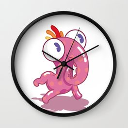 Snacle Monster Wall Clock