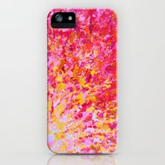 ROMANTIC DAYS - Lovely Sweet Romance, Valentine's Day Sweetheart Pink Red Abstract Acrylic Painting Slim Case iPhone (5, 5s)