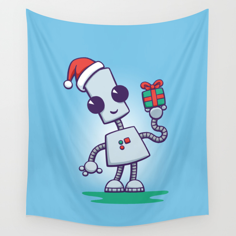 Ned's Christmas Wall Tapestry by Doodledojo TPS3768145