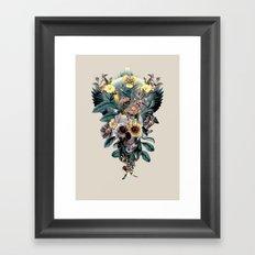 Skull and Snake Framed Art Print