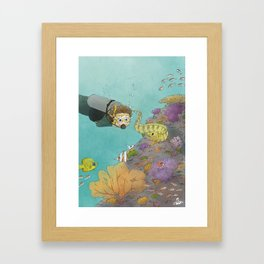 Coral Reef Scuba Diving Adventure Framed Art Print