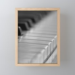 Piano keys Framed Mini Art Print