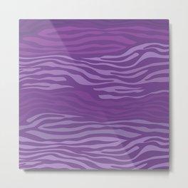 Purple Zebra Stripes Metal Print