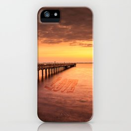 Sunset/Sundusk over harvor. iPhone Case