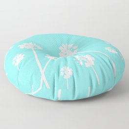 Palms in the Sky Floor Pillow