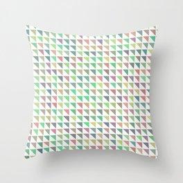 edge of autumn geometric pattern Throw Pillow